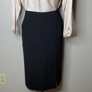 MM Lafleur 4 Mulberry side slit pencil skirt